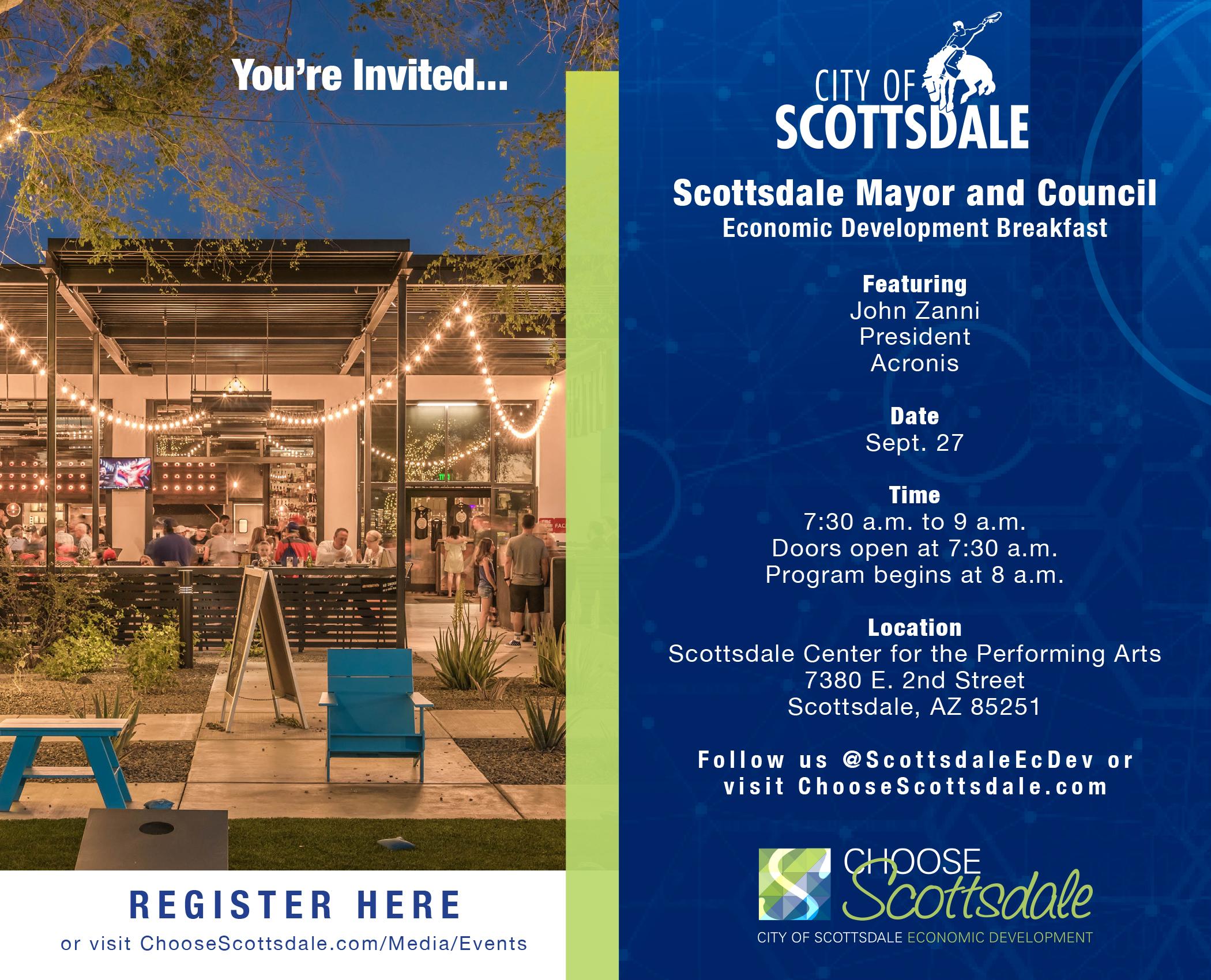 2018 Scottsdale Mayor & Council Economic Development Breakfast