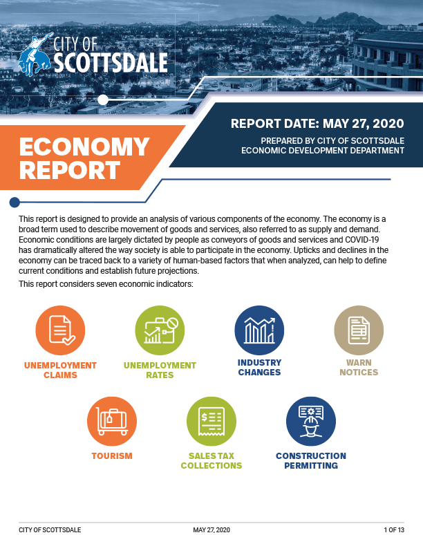 Scottsdale Economy Report - 2020 May Cover page