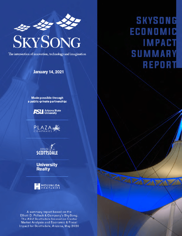 cover image of Skysong Economic Impact Report-2021