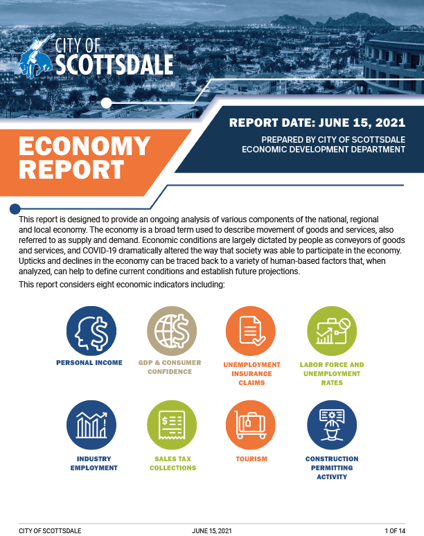 Scottsdale Economy Report - 2021 June cover sheet