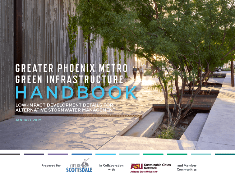 Cover of the Greater Phoenix Metro Green Infrastructure Handbook