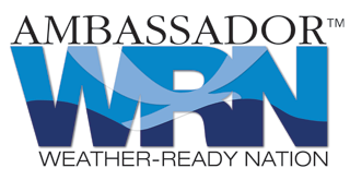 Logo for Weather Ready Nation WRN
