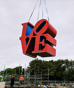 LOVE sculpture moved
