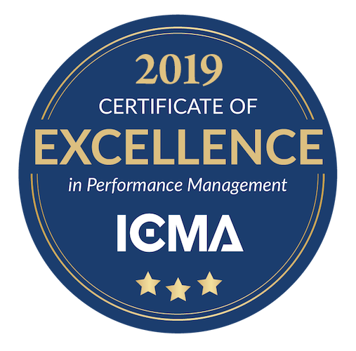 ICMA 2019 Certificate of Excellence in Performance Management Award