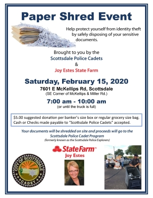 2020 SPD Cadet Shred Event