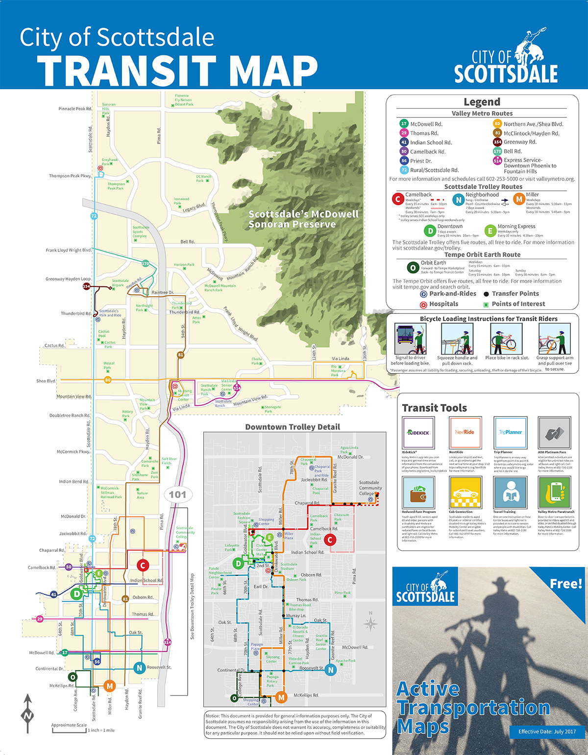 City Of Scottsdale Transit - Transit map