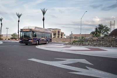 photo of Trolley in Mustang Roundabout