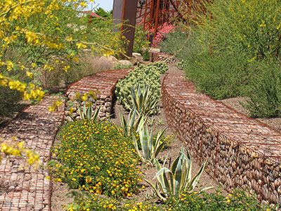 Gabions in the garden
