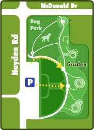 Map to Xeriscape garden