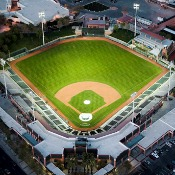 Scottsdale Stadium Aerial at Night